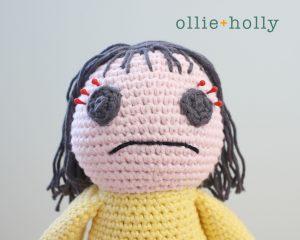 Free Miss Understood (Mr. Frond's Therapy Dolls from Bob's Burgers) Amigurumi Crochet Pattern Step 18