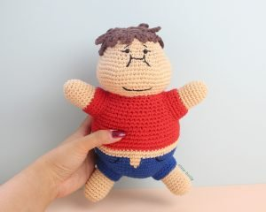 Portion Control Joel (Mr. Frond's Therapy Doll from Bob's Burgers) Amigurumi Crochet Pattern Full View