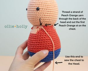 Free Distracts-his-friendzo Lorenzo (Mr. Frond's Therapy Dolls from Bob's Burgers) Amigurumi Crochet Pattern Step 9