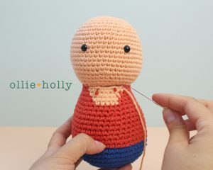 Free Distracts-his-friendzo Lorenzo (Mr. Frond's Therapy Dolls from Bob's Burgers) Amigurumi Crochet Pattern Step 10