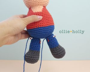 Free Distracts-his-friendzo Lorenzo (Mr. Frond's Therapy Dolls from Bob's Burgers) Amigurumi Crochet Pattern Step 14