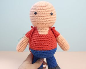 Free Distracts-his-friendzo Lorenzo (Mr. Frond's Therapy Dolls from Bob's Burgers) Amigurumi Crochet Pattern Step 15
