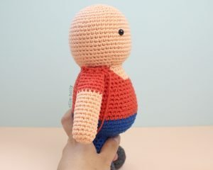 Free Distracts-his-friendzo Lorenzo (Mr. Frond's Therapy Dolls from Bob's Burgers) Amigurumi Crochet Pattern Step 16