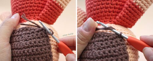 Free Distracts-his-friendzo Lorenzo (Mr. Frond's Therapy Dolls from Bob's Burgers) Amigurumi Crochet Pattern Step 22