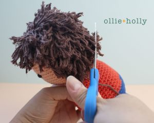 Free Distracts-his-friendzo Lorenzo (Mr. Frond's Therapy Dolls from Bob's Burgers) Amigurumi Crochet Pattern Step 25