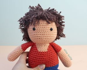 Free Distracts-his-friendzo Lorenzo (Mr. Frond's Therapy Dolls from Bob's Burgers) Amigurumi Crochet Pattern Step 26