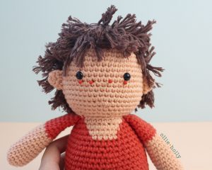Free Distracts-his-friendzo Lorenzo (Mr. Frond's Therapy Dolls from Bob's Burgers) Amigurumi Crochet Pattern Step 28