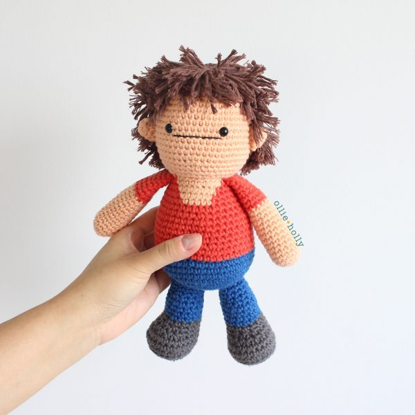 Distracts-his-Friendzo Lorenzo Therapy Doll From Bob's Burgers Amigurumi Crochet (Pattern Only)