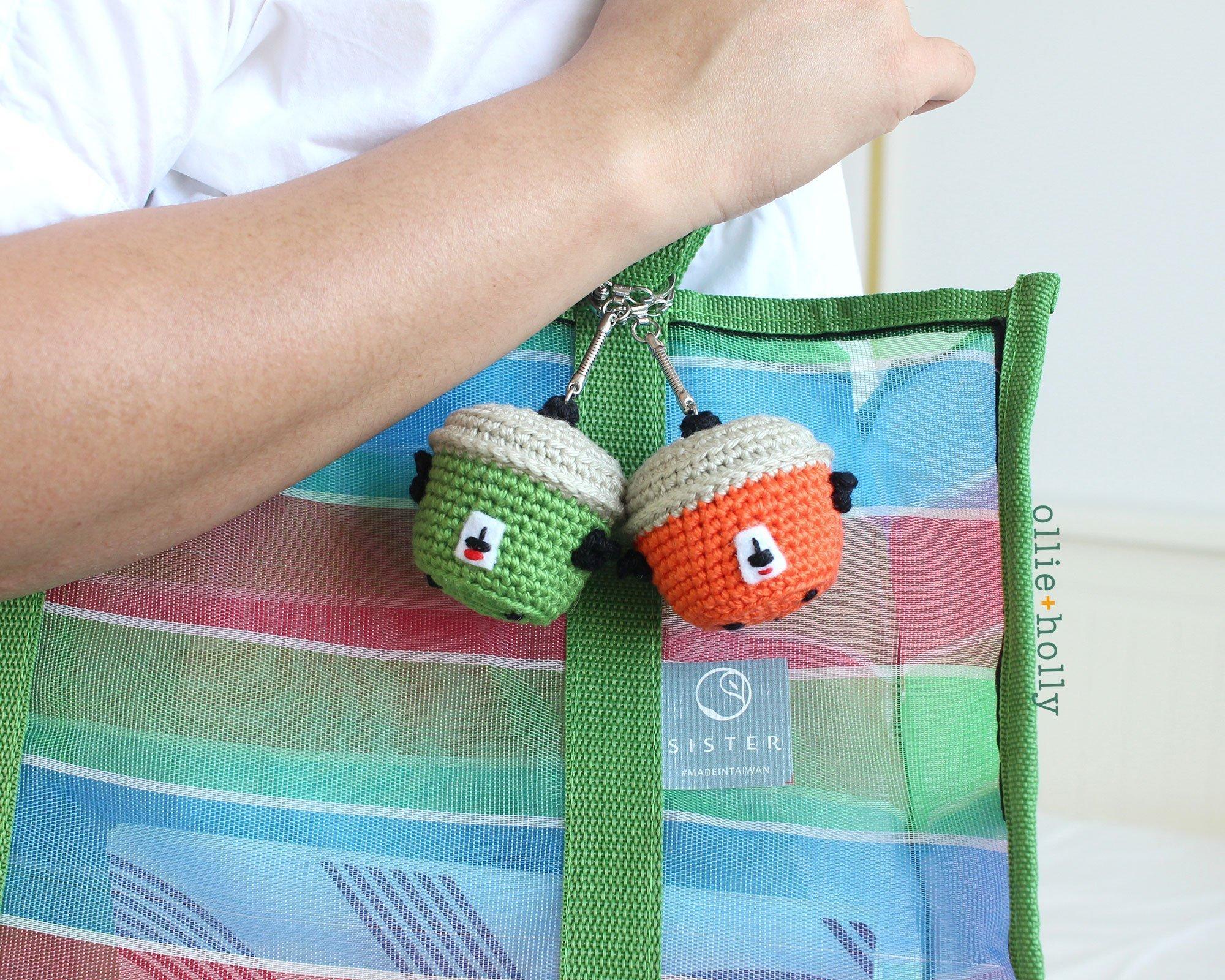 Free Taiwan Tatung Rice Cooker Amigurumi Keychain/Ornament Crochet Pattern