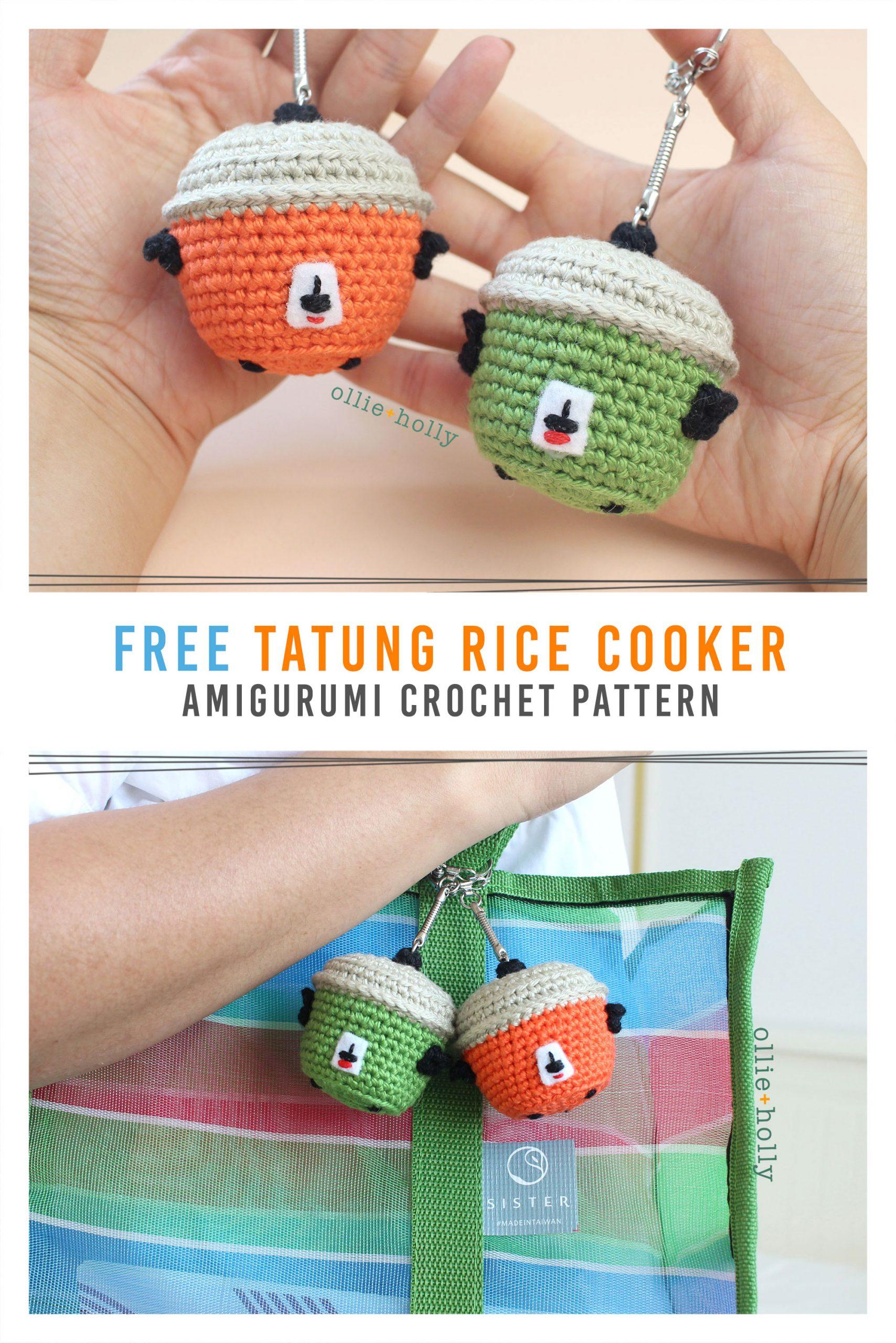 Free Taiwan Tatung Rice Cooker Amigurumi Keychain/Ornament Crochet Pattern Pinterest