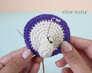 Free Halloween Poisonous Mushroom Amigurumi Ornament Crochet Pattern Step 9