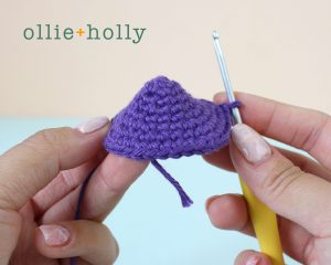 Free Halloween Poisonous Mushroom Amigurumi Ornament Crochet Pattern Step 6