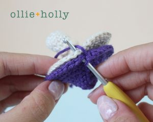 Free Halloween Poisonous Mushroom Amigurumi Ornament Crochet Pattern Step 7