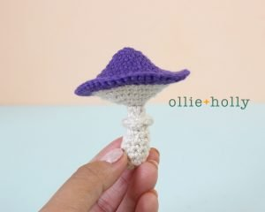 Free Halloween Poisonous Mushroom Amigurumi Ornament Crochet Pattern Step 5