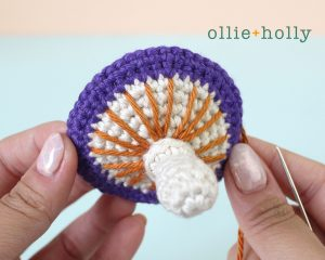 Free Halloween Poisonous Mushroom Amigurumi Ornament Crochet Pattern Step 12