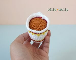 Free Cup Noodles Instant Ramen Amigurumi Toy Crochet Pattern Soup Finished