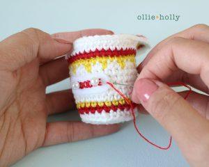 Free Cup Noodles Instant Ramen Amigurumi Toy Crochet Pattern Step 9