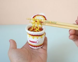 Free Cup Noodles Instant Ramen Amigurumi Toy Crochet Pattern