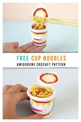 Free Cup Noodles Instant Ramen Amigurumi Toy Crochet Pattern Pinterest