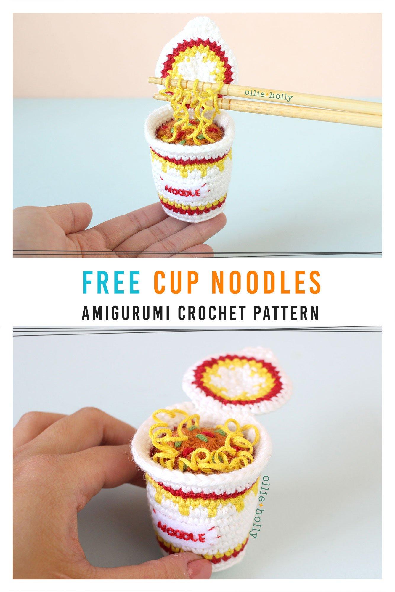 Free Cup Ramen Noodles Instant Ramen Amigurumi Toy Crochet Pattern Pinterest