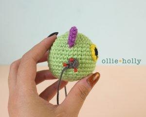 Free Frankenkitty & Pumpkitten Halloween Cat Ornaments Amigurumi Crochet Pattern Step 15