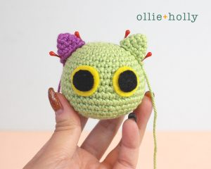 Free Frankenkitty & Pumpkitten Halloween Cat Ornaments Amigurumi Crochet Pattern Step 11