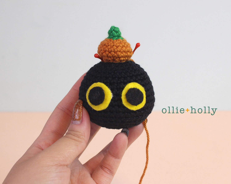 Free Frankenkitty & Pumpkitten Halloween Cat Ornaments Amigurumi Crochet Pattern Step 8