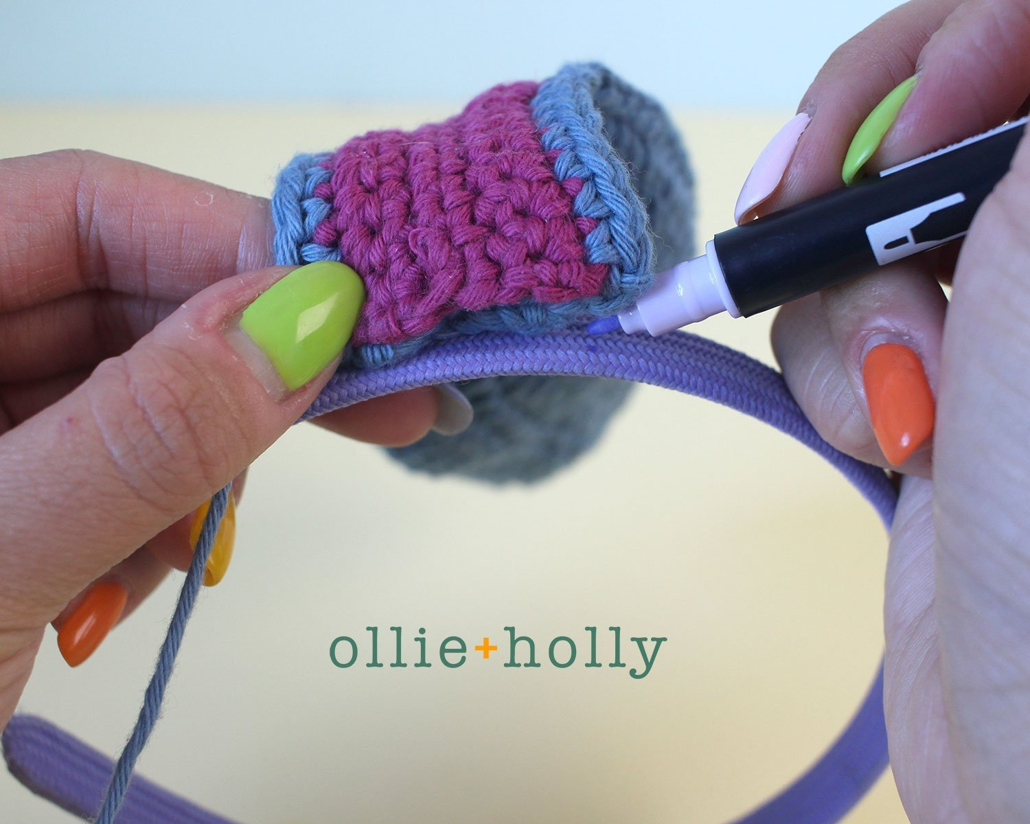 Free Eeyore (Winnie the Pooh) Crochet DIY Headband Disney Ears Pattern Step 9