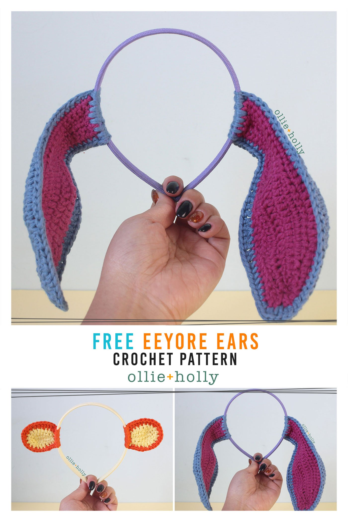 Free Eeyore (Winnie the Pooh) Crochet DIY Headband Disney Ears Pattern
