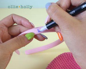Free Piglet (Winnie the Pooh) Crochet DIY Headband Disney Ears Pattern Step 3