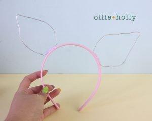 Free Piglet (Winnie the Pooh) Crochet DIY Headband Disney Ears Pattern Step 9
