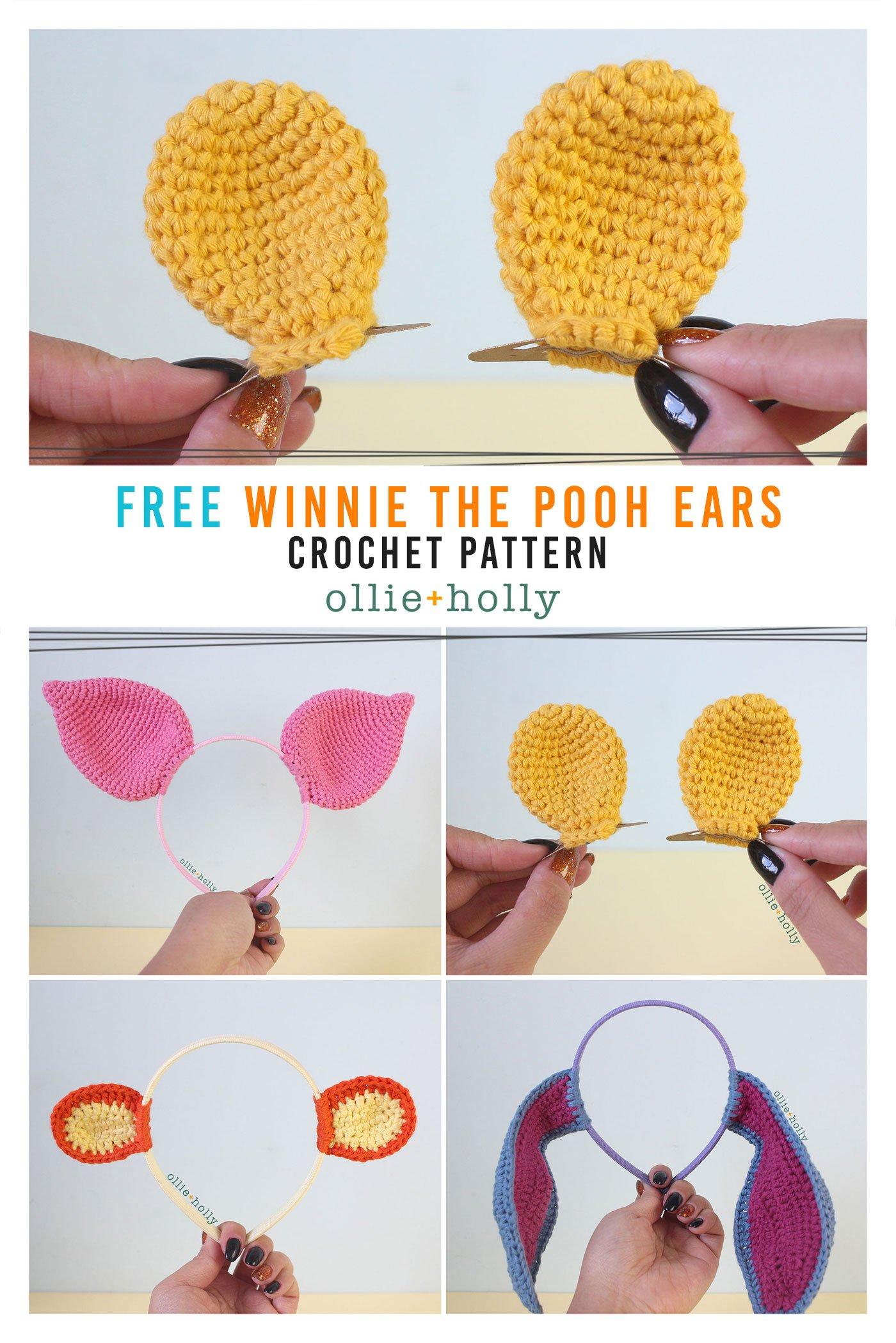 Free Winnie the Pooh Crochet DIY Disney Ears Pattern