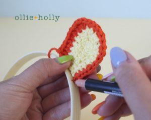 Free Tigger (Winnie the Pooh) Crochet DIY Headband Disney Ears Pattern Step 6