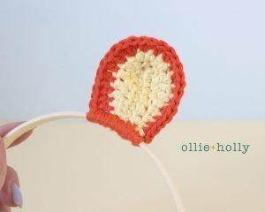 Free Tigger (Winnie the Pooh) Crochet DIY Headband Disney Ears Pattern Step 8