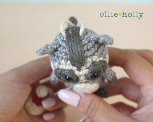 Christmas Holiday Toronto Raccoon Amigurumi Crochet Ornament Decoration Top