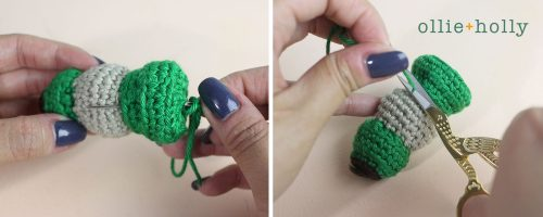 Free Vintage Camping Lantern Amigurumi Crochet Christmas Ornament Pattern Step 5