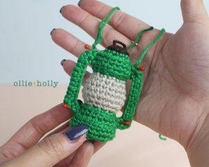 Free Vintage Camping Lantern Amigurumi Crochet Christmas Ornament Pattern Step 8
