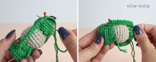 Free Vintage Camping Lantern Amigurumi Crochet Christmas Ornament Pattern Step 9