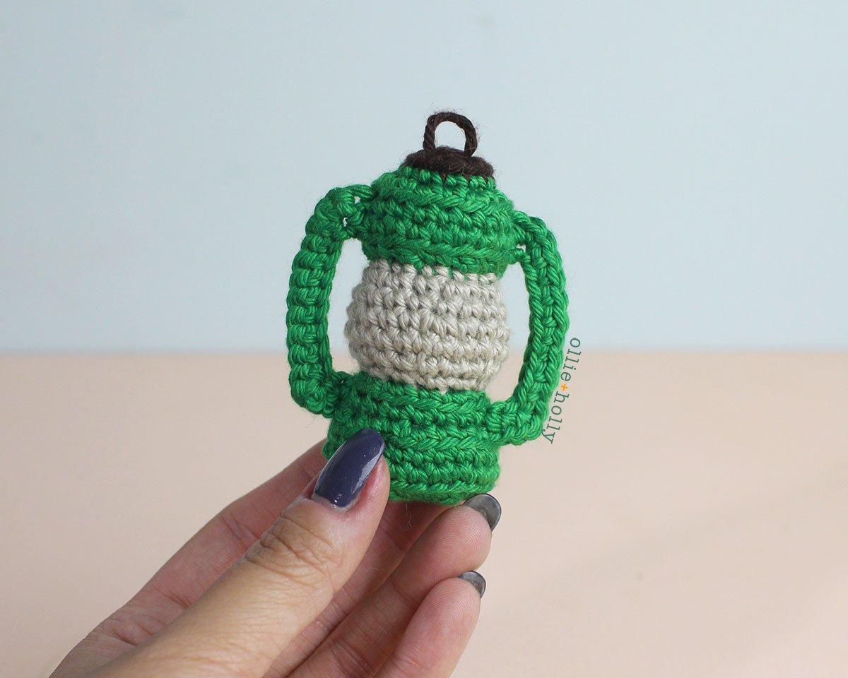 Free Vintage Camping Lantern Amigurumi Crochet Christmas Ornament Pattern Step 10