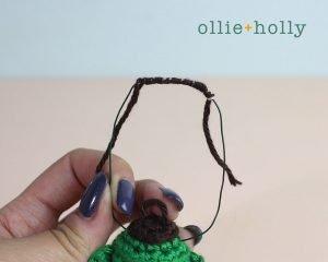 Free Vintage Camping Lantern Amigurumi Crochet Christmas Ornament Pattern Handles Step 3