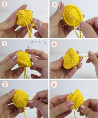 Free Jin Yuan Bao Gold Sycee Amigurumi Crochet Chinese New Year Ornament Pattern Step 5
