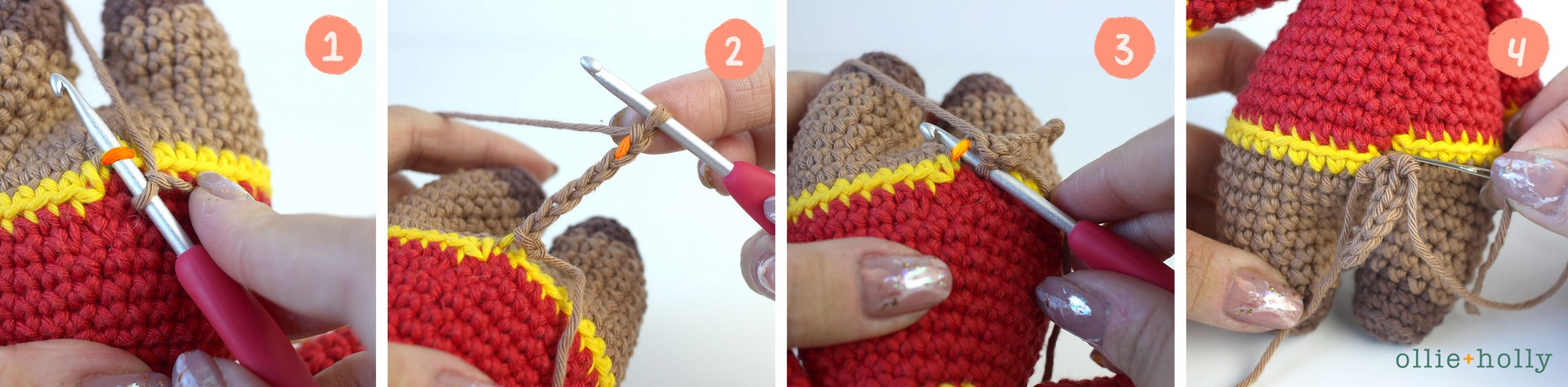 Free Year of the Ox Chinese Lunar New Year Amigurumi Crochet Pattern Step 21