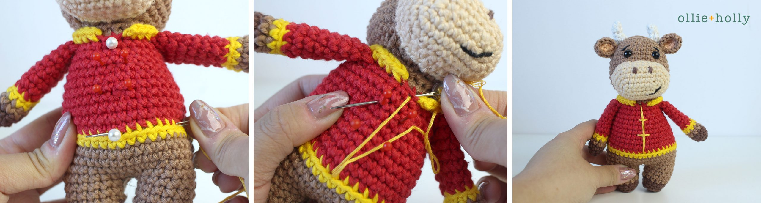 Free Year of the Ox Chinese Lunar New Year Amigurumi Crochet Pattern Step 23