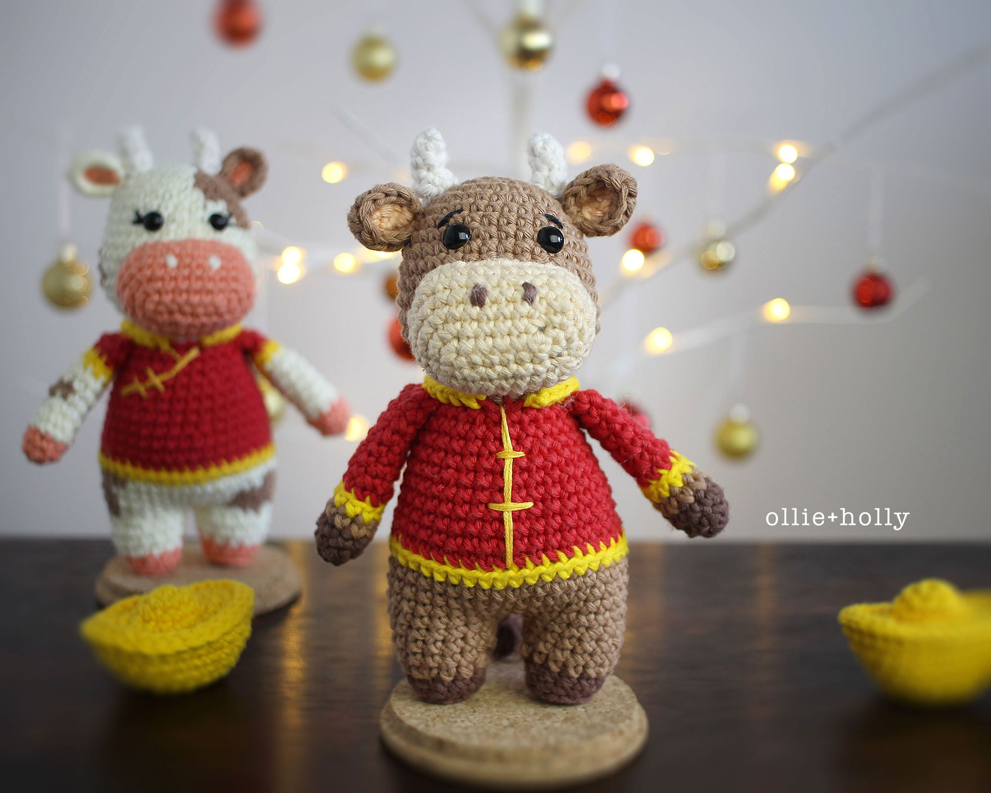 Free Year of the Ox Chinese Lunar New Year Amigurumi Crochet Pattern Two