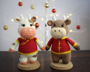 Free Year of the Ox Chinese Lunar New Year Amigurumi Crochet Pattern Completed