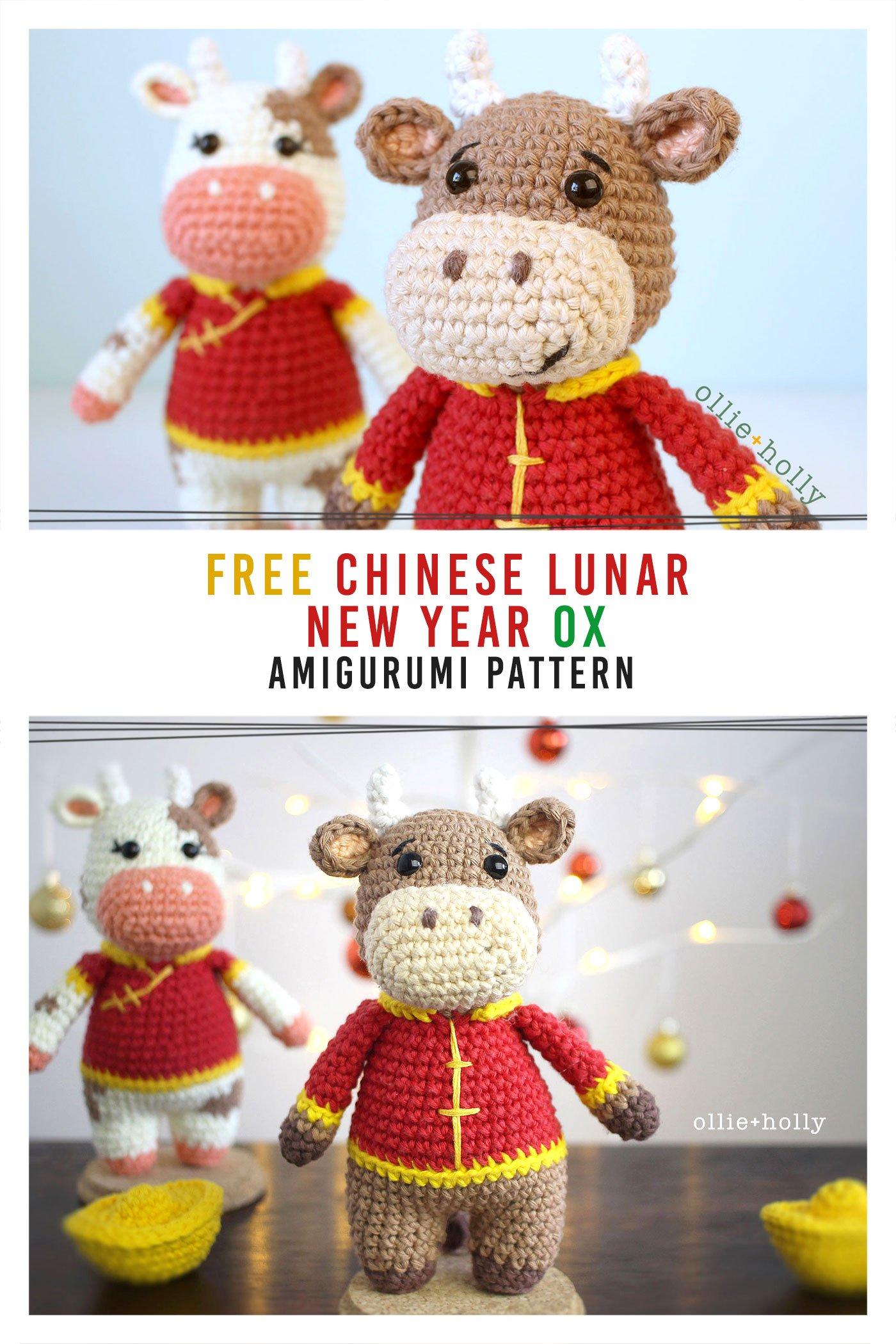Free Year of the Ox Chinese Lunar New Year Amigurumi Crochet Pattern