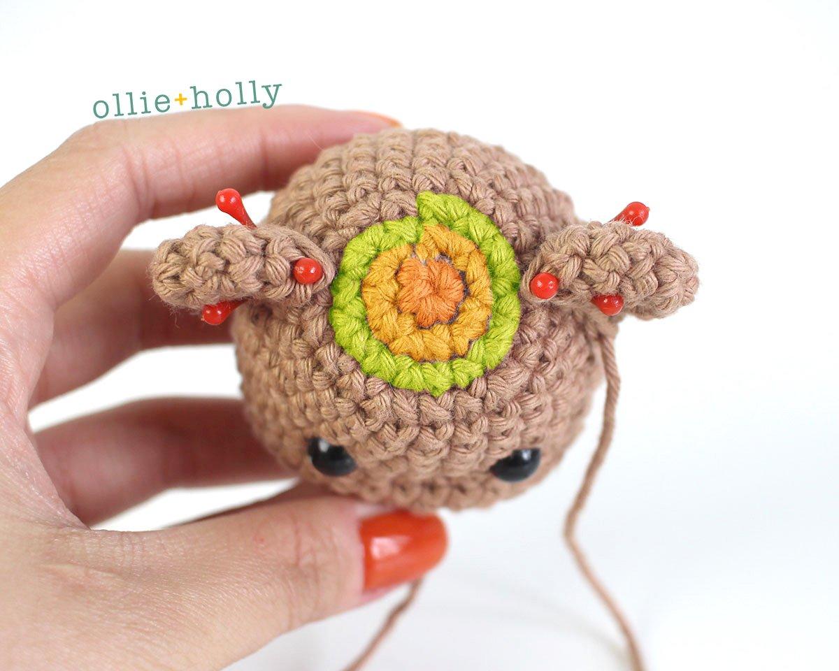 Free Bernadette the Bear Stuffed Animal Amigurumi Crochet Pattern Step 33