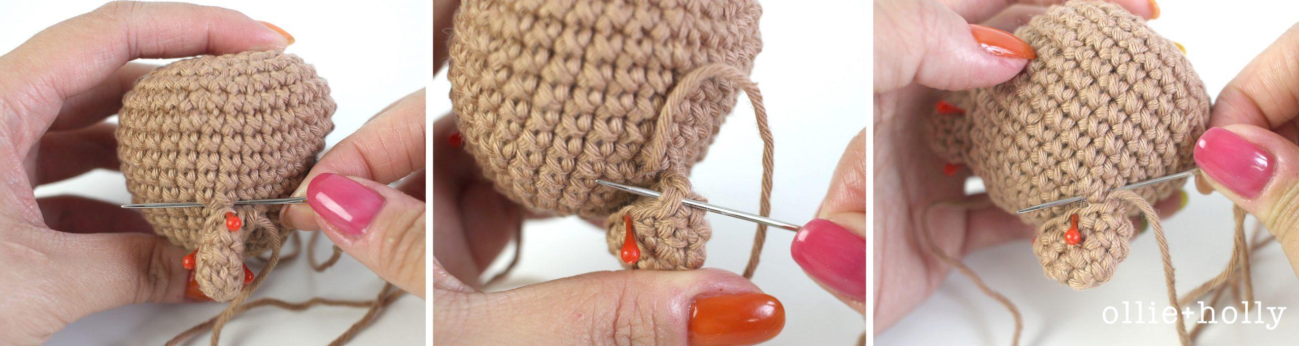 Free Bernadette the Bear Stuffed Animal Amigurumi Crochet Pattern Step 3
