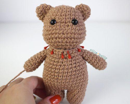 Free Bernadette the Bear Stuffed Animal Amigurumi Crochet Pattern Step 35