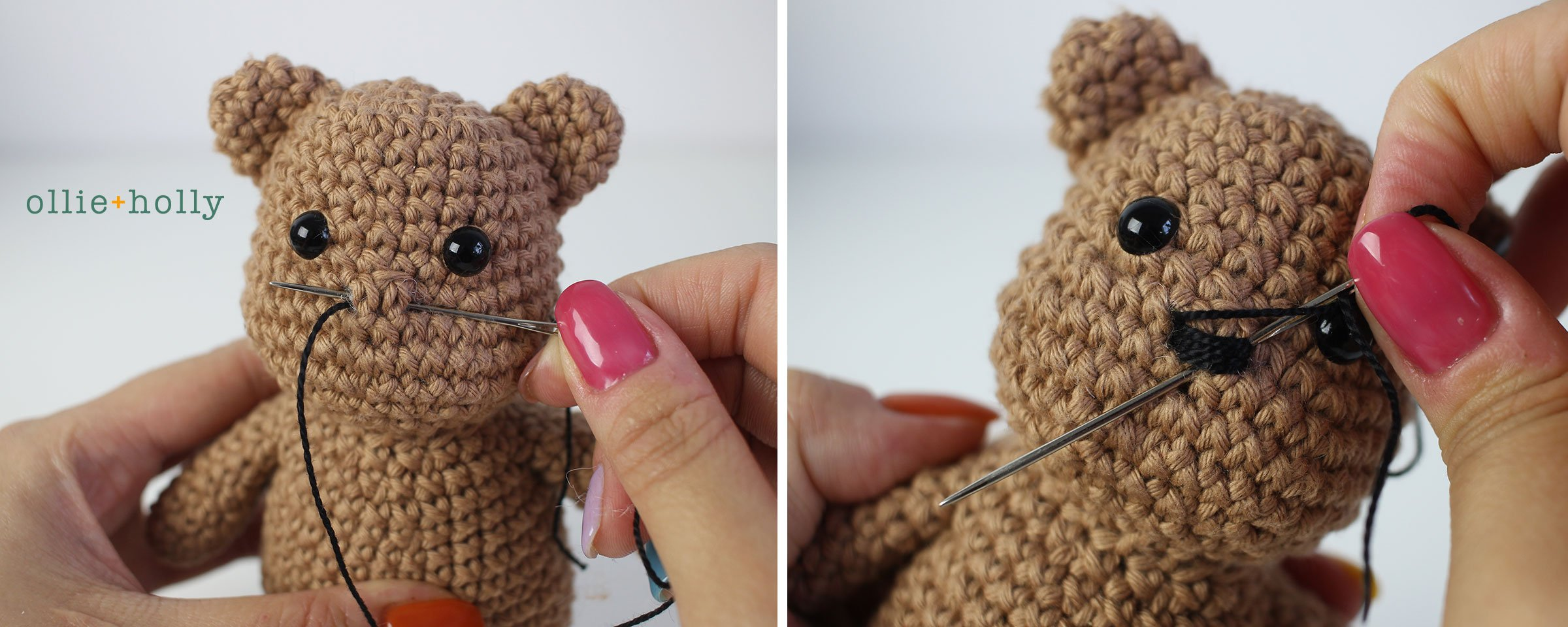 Free Bernadette the Bear Stuffed Animal Amigurumi Crochet Pattern Step 38